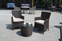 WF-3008A two chairs and one coffee table patio rattan set