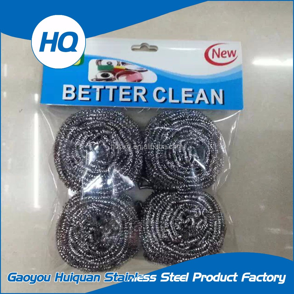 Non-deformation kitchen cleaning steel wire scouring pad