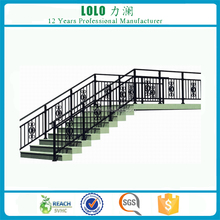 Antique Black Safety Aluminum Staircase Handrail Design For Stairs