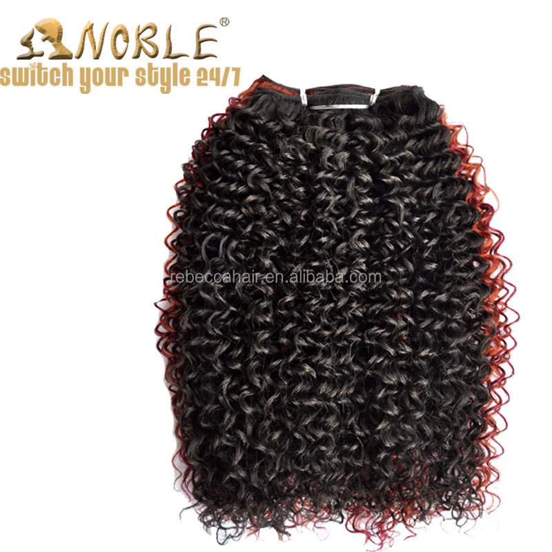Wholsale Cheap Noble Synthetic Afro Extension Soft Loose Afro Wave Hair For Sale