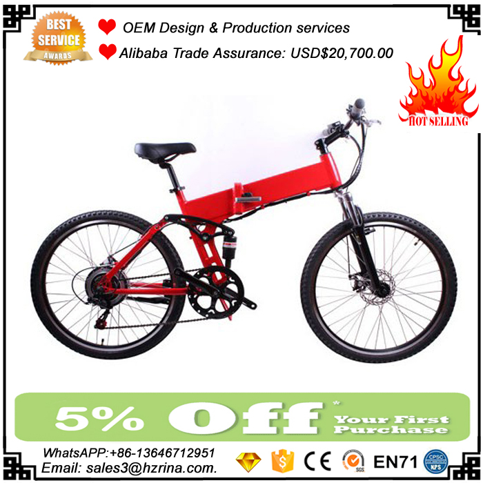 "2017 Hot Selling popular CE approval Electric 26"" Bicycle Folding E-Bike"
