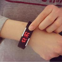 Candy Color Silicone Band LED Screen Bracelet Watches Men Women Sports Wrist Watches