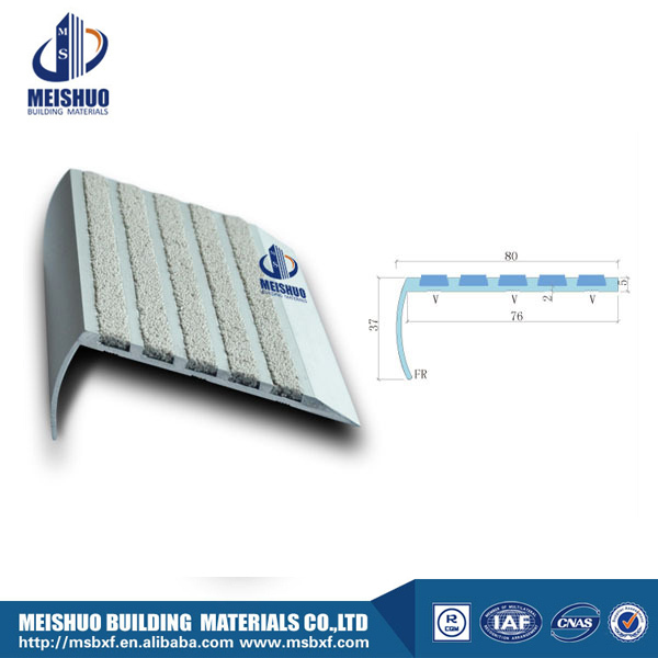 Indoor step edging protection anti-slip carborundum filler metal stair nosing