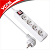 VCOM 4 Ports EU Type White Power Board Power Socket Bare Copper