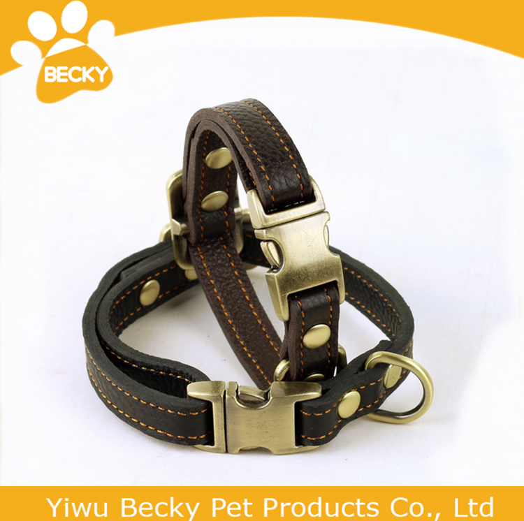 Best products For Small Dog Pet Real Leather Dog Collars Buckle
