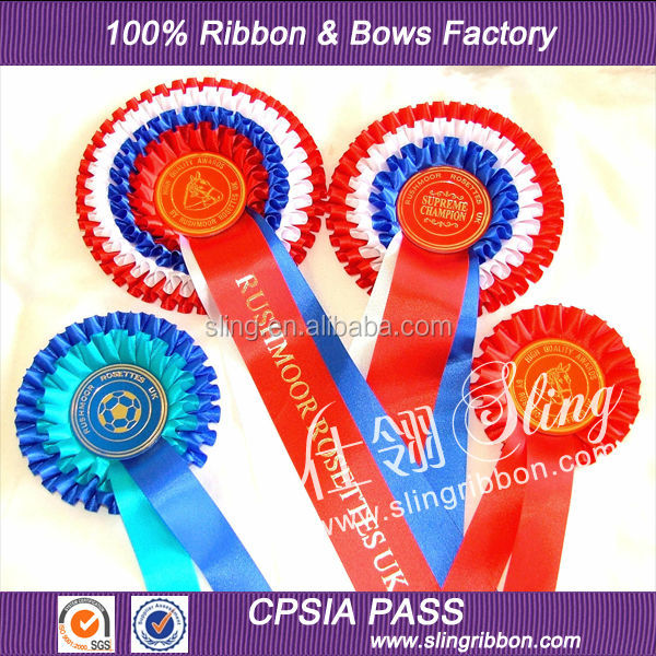 Wholesale Custom Ribbon Rosette For Horse Show