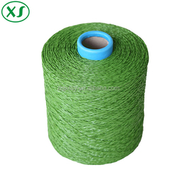 Green color PE straight and curly yarn artificial grass for garden landscape