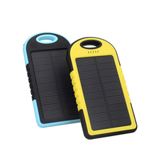 wholesale dual USB solar power bank, portable 5000mah solar power bank battery charger