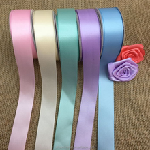 good quality blank color press edged satin ribbon for hair ornament