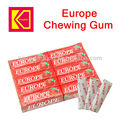 Europe chewing gum strawberry flavor