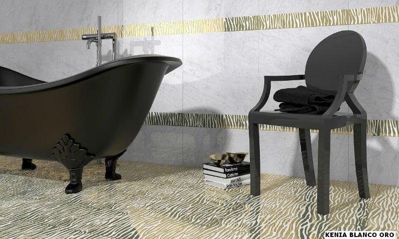 Ceramic tiles with metal skin
