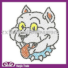 Rhinestone iron on transfer motif. Hotfix rhinestone heat transfer for new designs