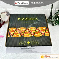 New design Kraft Paper Corrugated Pizza Box