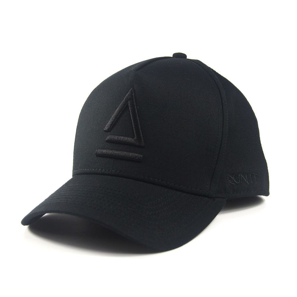 Design Your Own 5 Panel Snapback Hat Custom 3D Embroidery Black Cotton Baseball <strong>Cap</strong> for Women