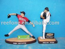 Polyresin sports baseball action figurines