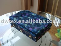 2012 new style 100% polyester printed and raschel mink blanket