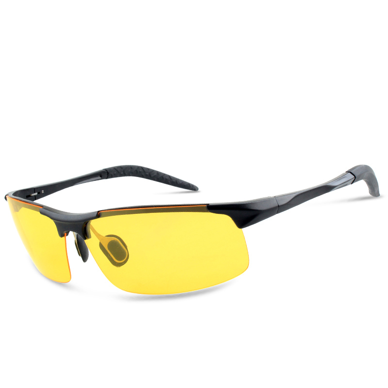 2018 China factory yellow lens light metal frame night driving vision glasses goggles