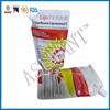Free samples clear plastic zip pouch drinks