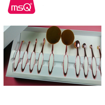 MSQ Hot Sale Good Quality Oval Foundation Blusher Eye Shadow Makeup Brushes Set