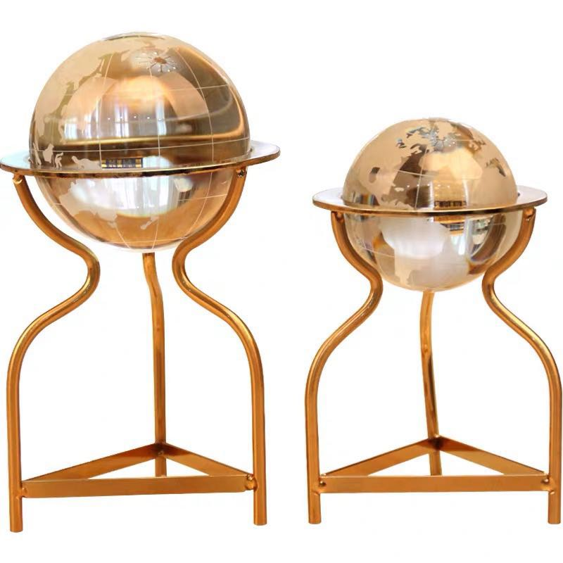 NO <strong>D007</strong> Featured Crystal ball metal globe desk decoration for office thing