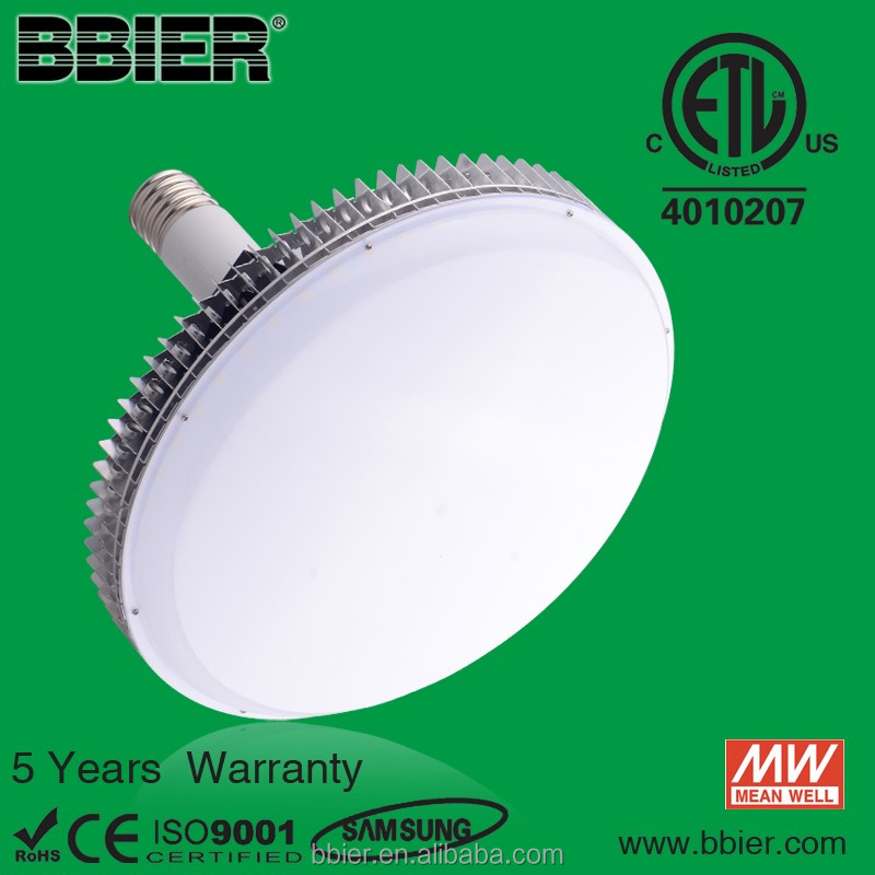 High lumen output 120w E39 DLC flat led high bay bulb
