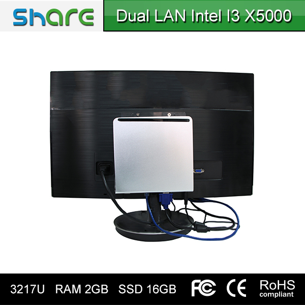 hd4000 chipset low price mini pc i3 2 lan with COM port supports OEM
