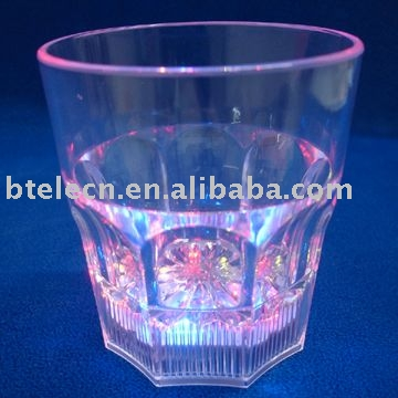 350ml Glow Whiskey/flashing led whisky cup with replaceable battery