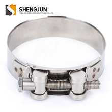 Strong high pressure stainless steel heavy duty types of hose clamps