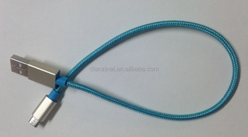 Wholesale Color Nylon fast charging & data transfer micro usb cable for andriod cell phone