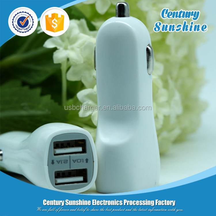 Latest mobile phone accessory 2 port micro usb car charger