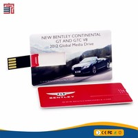 Multifunction promotional gift ultra thin credit card bulk 2gb usb flash drive