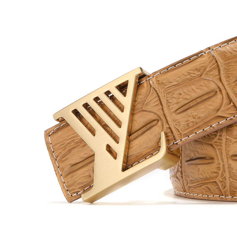 Usine chinoise Offre Spéciale hommes ceinture en cuir véritable homme pu l v Meilleur prix de haute qualité