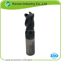 Top quality 4 flutes square solid roughing carbide end mills for cnc etc