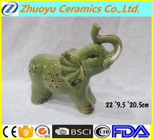 Hot selling garden decorative ceramic elephant