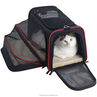 Expandable Foldable Washable Travel Carrier Pet Carrier Soft-sided Cat Bag