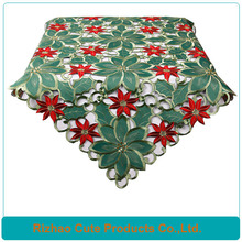 hand made cutwork embroidery christmas coloring tablecloth