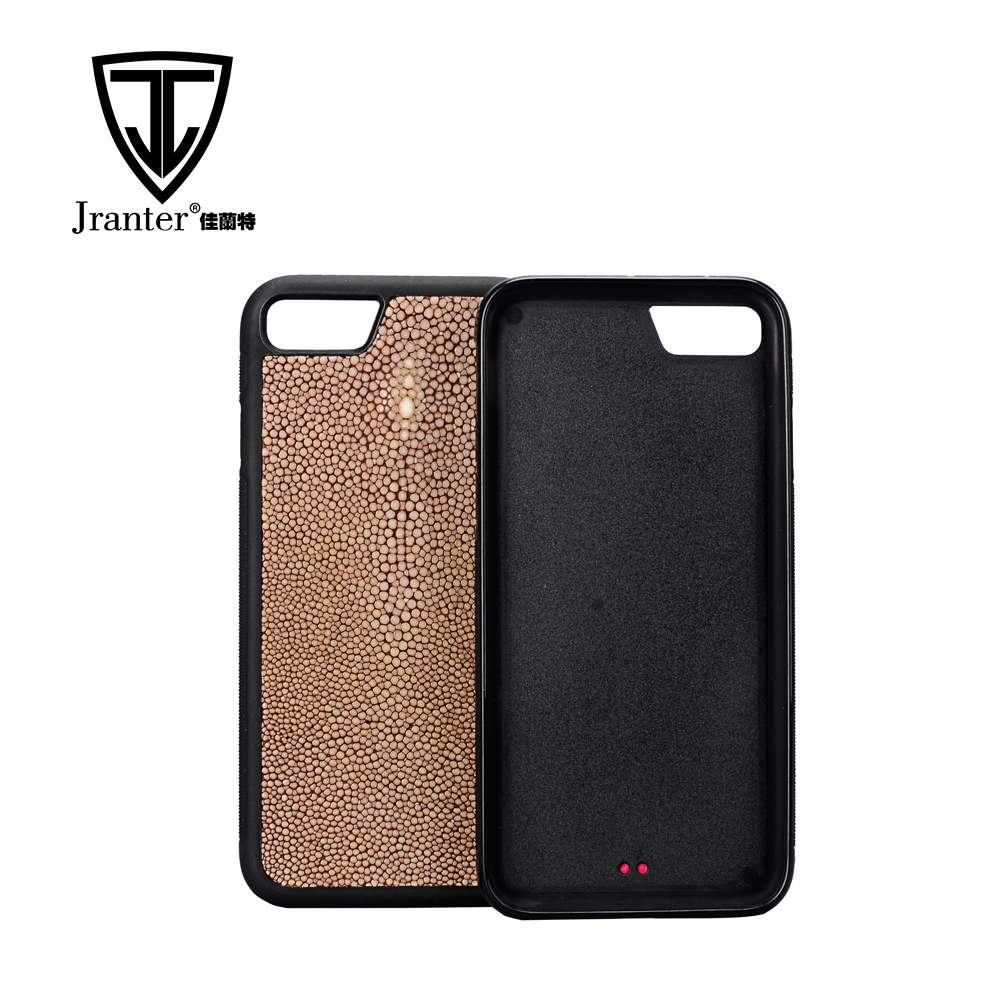 Custom Design Beautiful Exotic Leather Mobile Phone Cover, Safety Stingray Leather Cover For Mobile Phone
