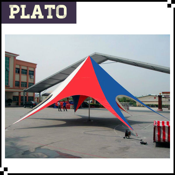 Large single peak star tent for activities/new strong star shape tent for promotion
