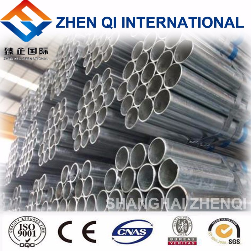 hot dip galvanized steel pipe trading, Zinc Galvanized Round Steel Pipe for building material