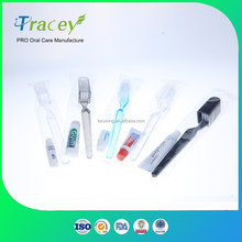 cheap Mini Fold toothbrush with toothpaste facory