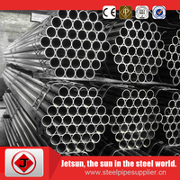 Round ERW tube steel pipes building material factory Q195 Q235 Q345 api 5l cement lined steel pipe