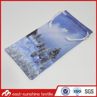 Wholesale Colorful Picture Printing Microfiber Drawstring Pouch for Cell Phone