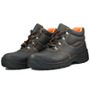 NMSAFETY cow split emboss leather upper pu injection mesh and cambrella lining middle upper safety shoes winter