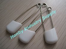 White Color Safety Nappy Pin for Baby Shower Favor