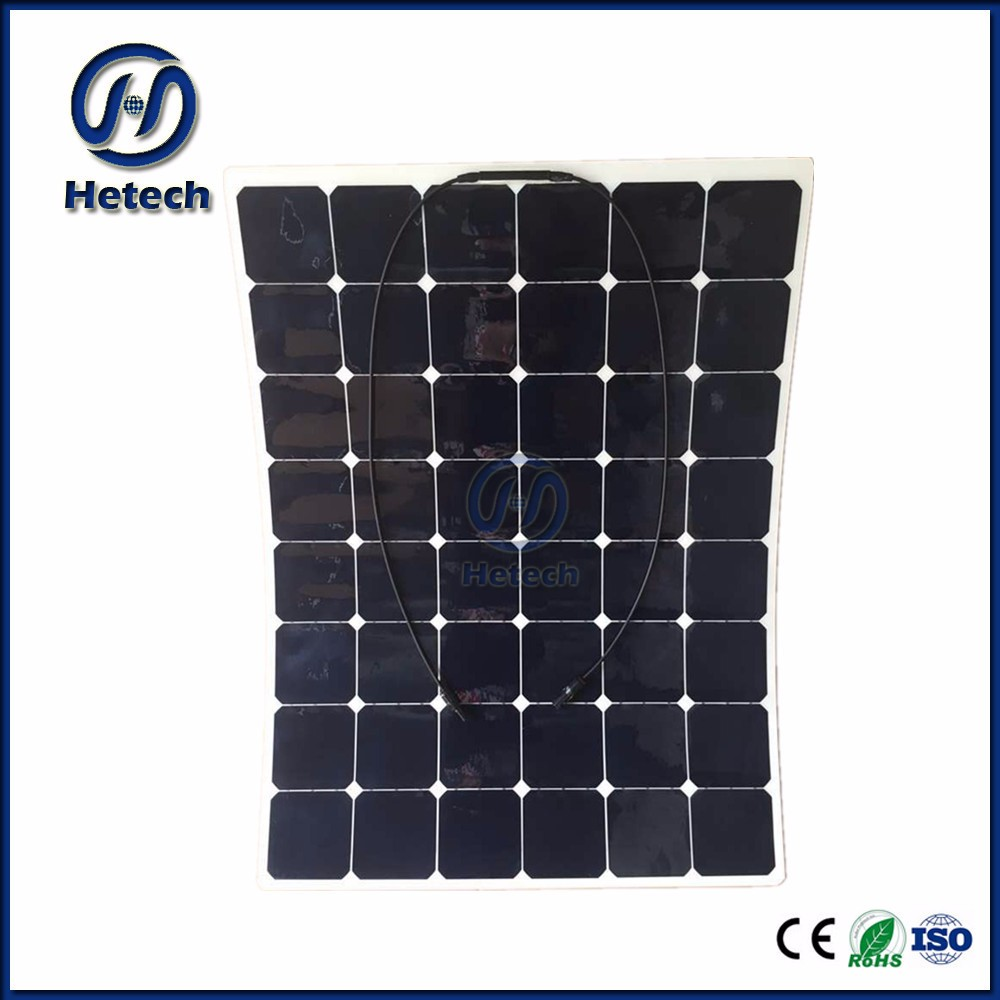 Holes on panels are predrilled 150w 24v flexible solar panel roll