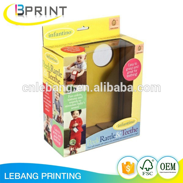 Customized PVC window plastic toy packaging soap box for cell phone case