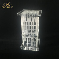 Engraving Crystal Ramadan Wind Tower Building Trophy Award As Souvenirs Gifts