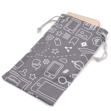 Fashion style soft touch microfiber cell phone pouch for men
