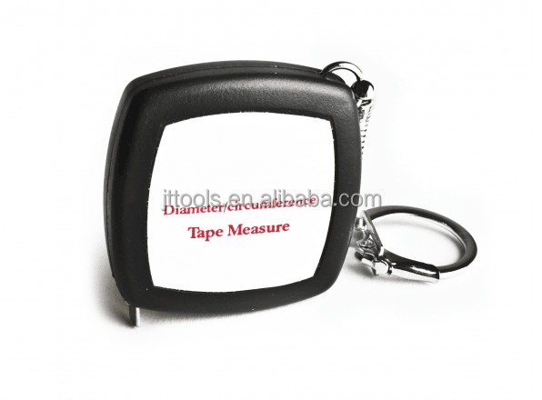 Diameter Pi steel tape measure Flat flexible steel retractable tape comes with handy key chain