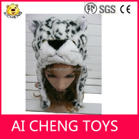 fake faux fur, soft plush, fleece, newest design fashion fuzzy animal hats, hotsale, long and short